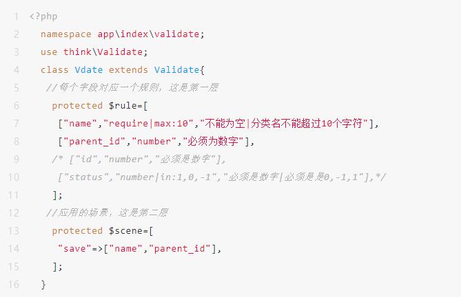 Thinkphp5框架使用validate实现验证功能的方法