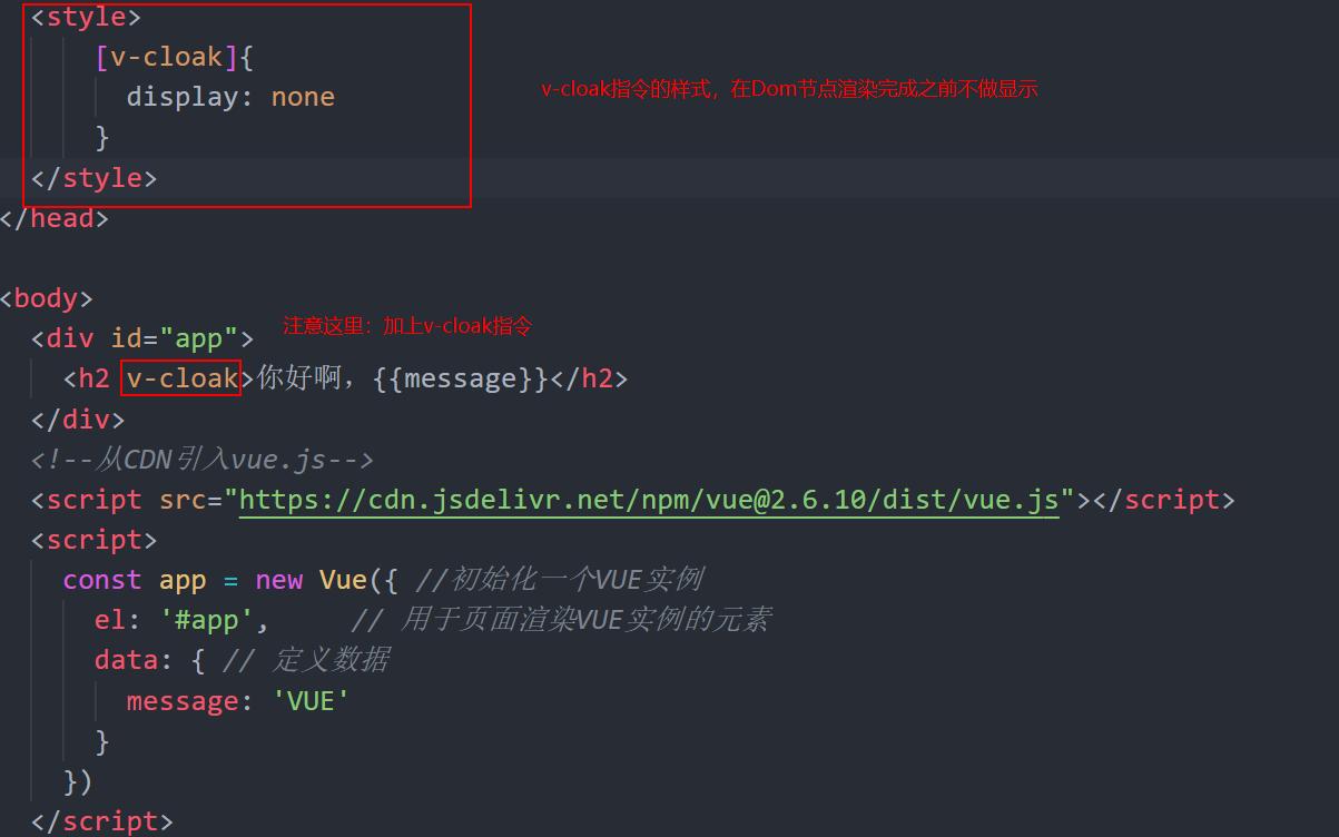 VUE框架|v-text与v-cloak的使用方法和技巧